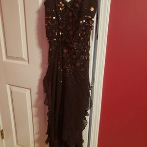 Dresses & Skirts - Dressy 100% silk brown dress